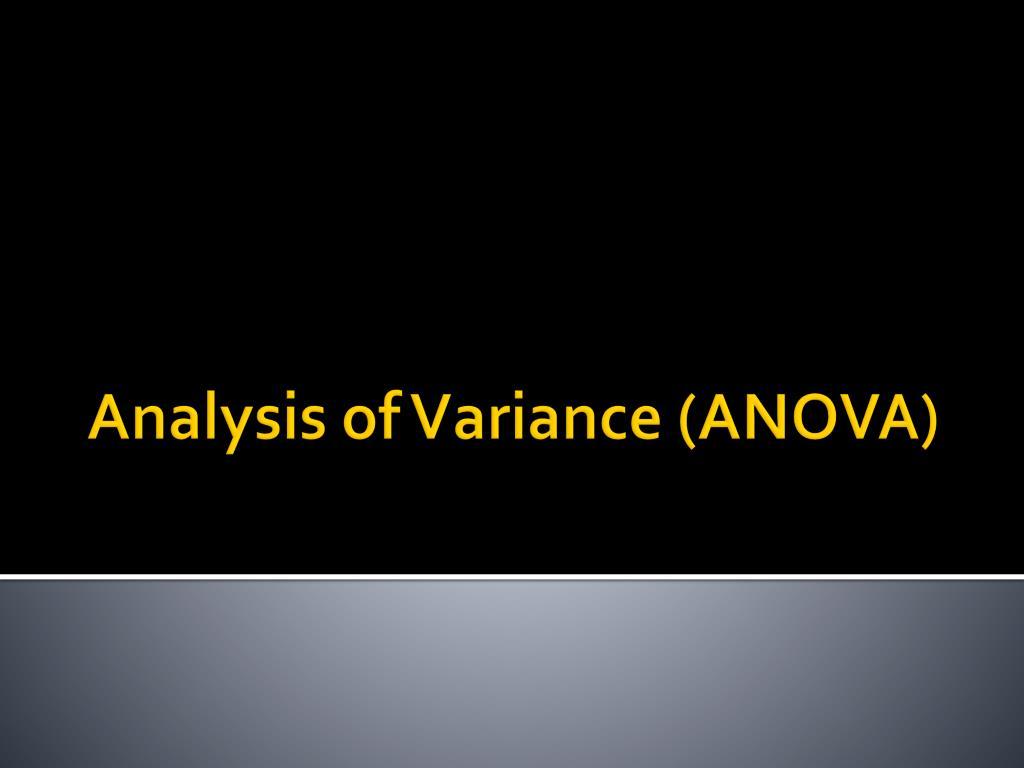 analysis of variance anova l.