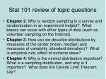 stat 101 review of topic questions