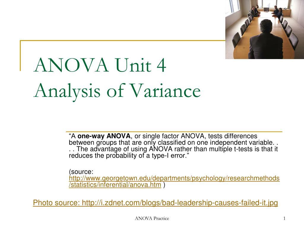ANOVA Unit 4