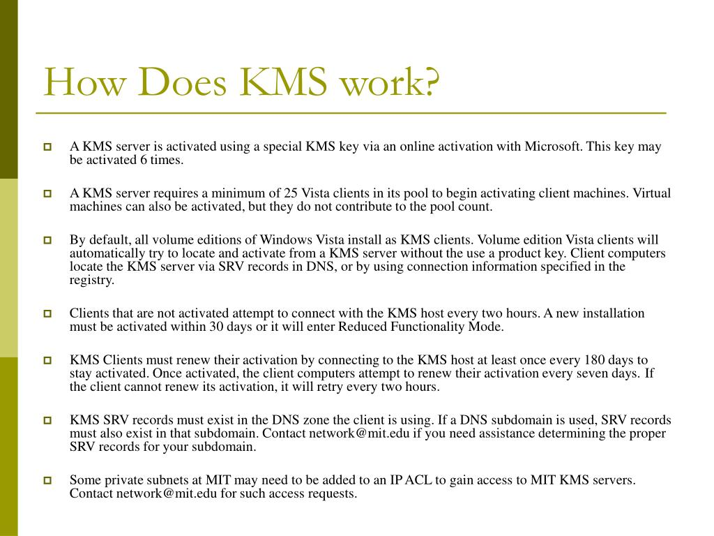 How Does KMS work?