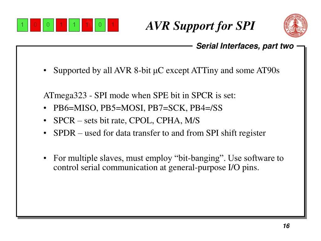 AVR Support for SPI