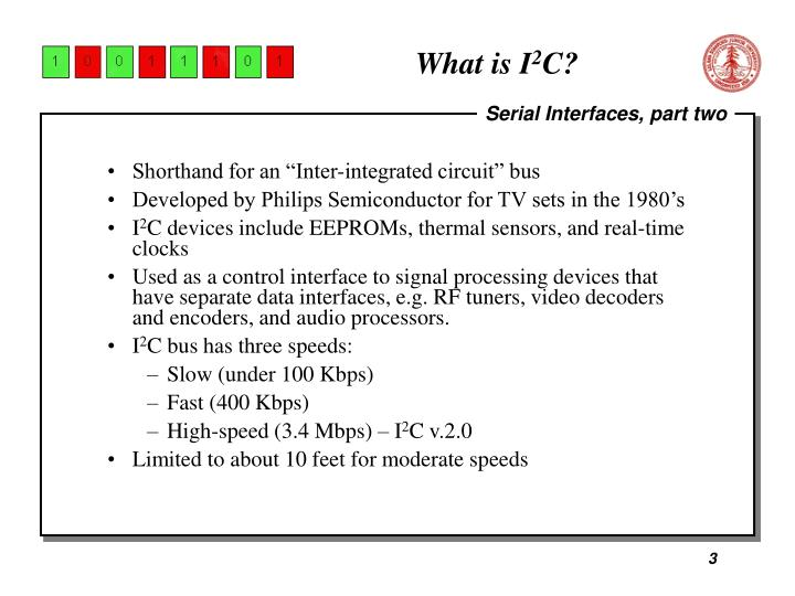 What is i 2 c