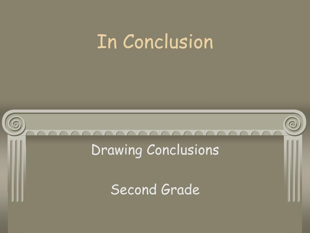 in conclusion l.