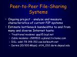 peer to peer file sharing systems