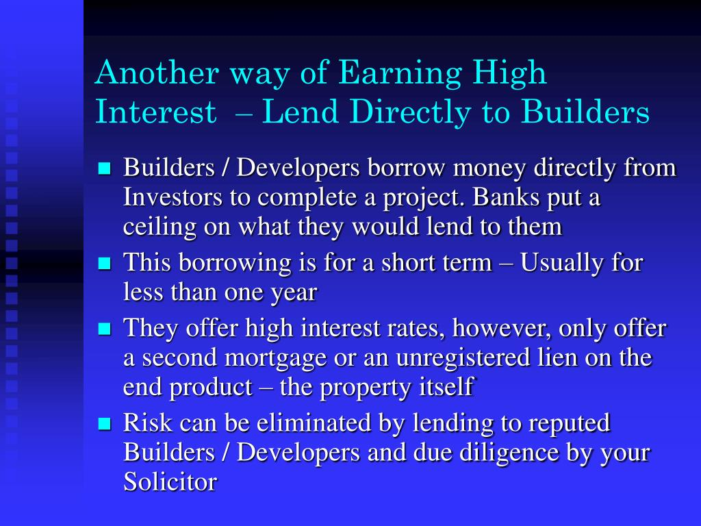 Another way of Earning High Interest