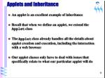 applets and inheritance