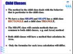child classes