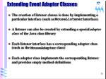 extending event adapter classes