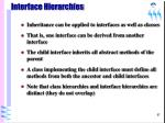 interface hierarchies