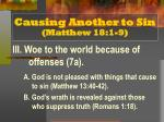 causing another to sin matthew 18 1 94