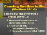 causing another to sin matthew 18 1 96