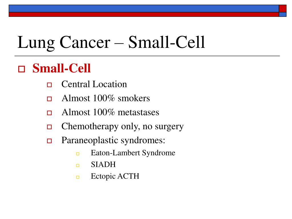 Lung Cancer – Small-Cell