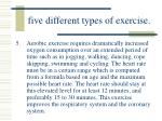 five different types of exercise54