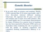 genetic theories24