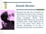 genetic theories25