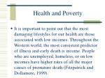 health and poverty