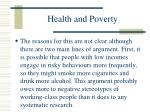 health and poverty85