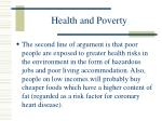 health and poverty86