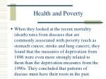 health and poverty90