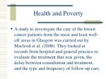 health and poverty99