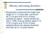 obesity and eating disorders64