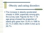 obesity and eating disorders65