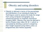obesity and eating disorders67