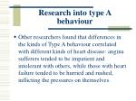 research into type a behaviour110