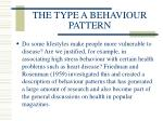 the type a behaviour pattern
