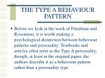 the type a behaviour pattern103
