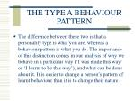the type a behaviour pattern104