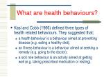 what are health behaviours