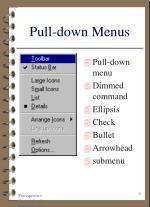 pull down menus