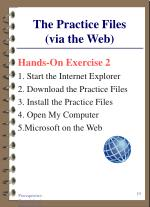 the practice files via the web