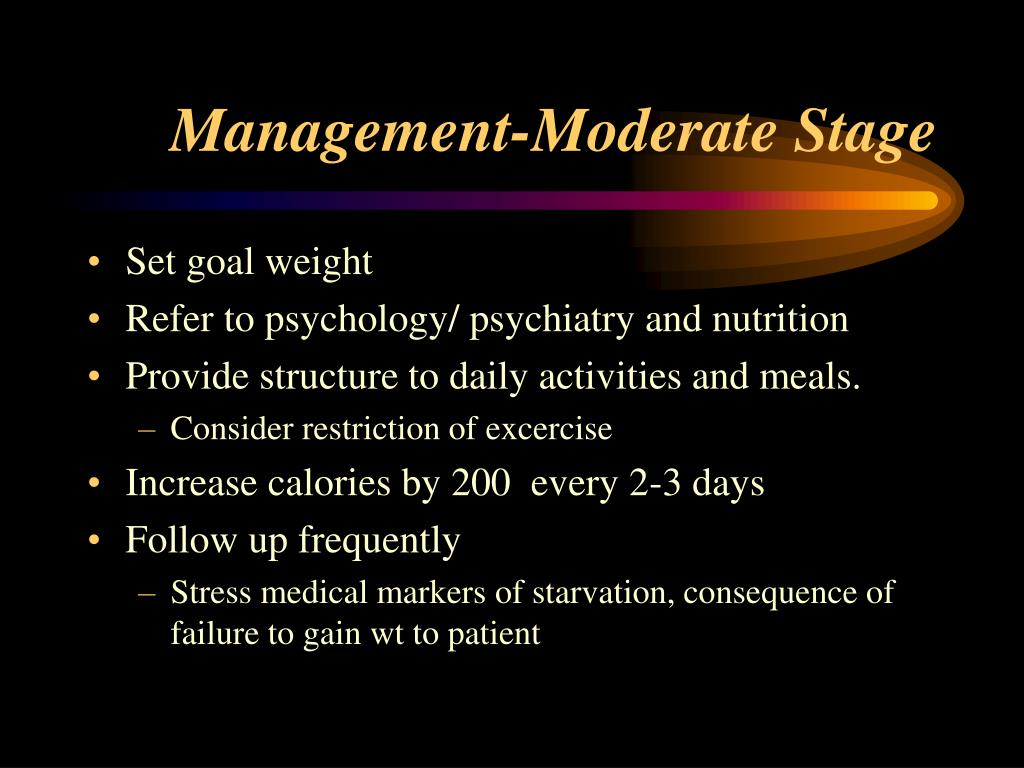 Management-Moderate Stage