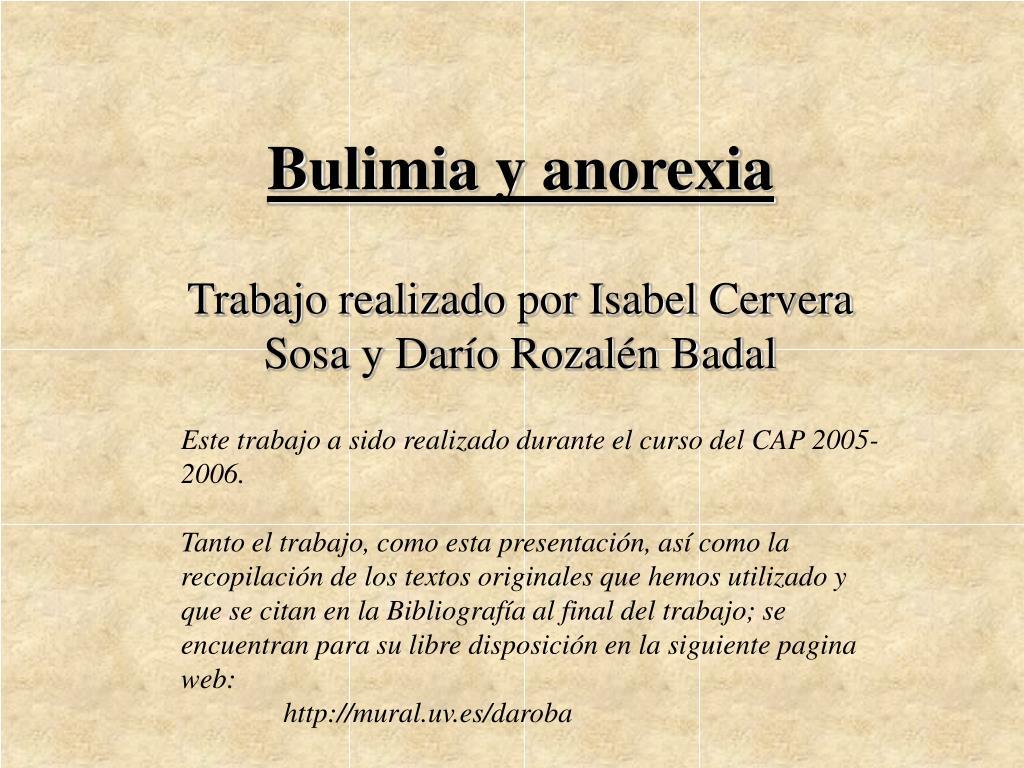 bulimia y anorexia l.