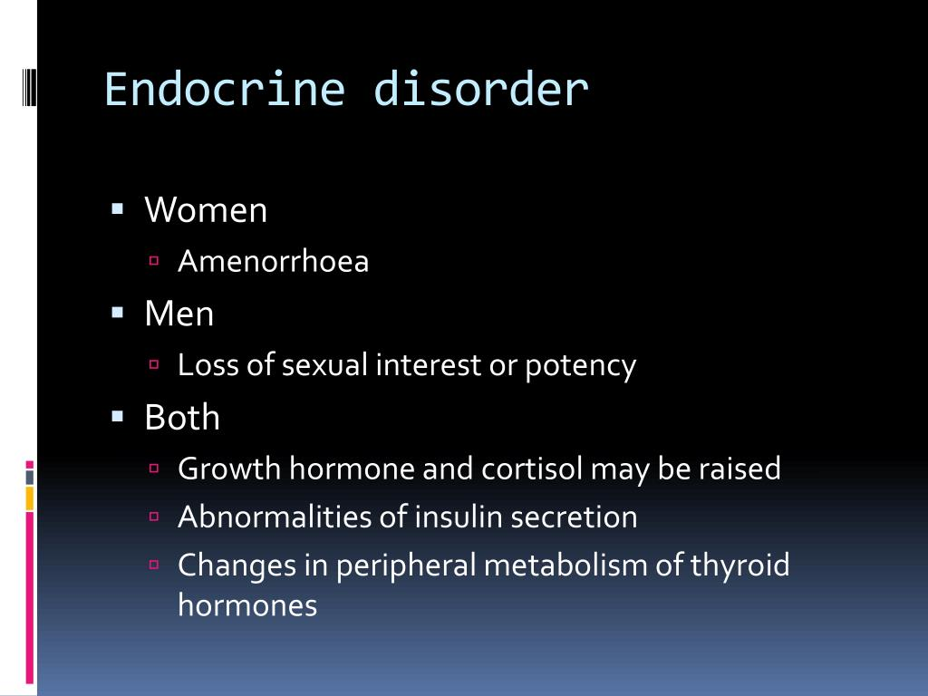 Endocrine disorder