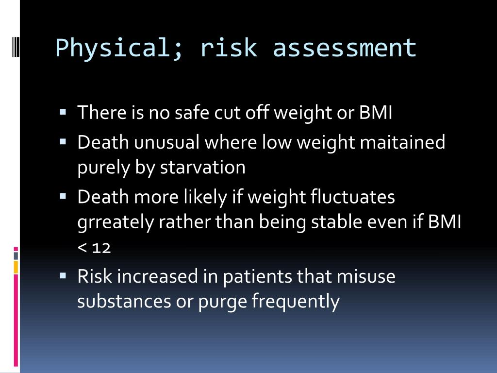 Physical; risk assessment