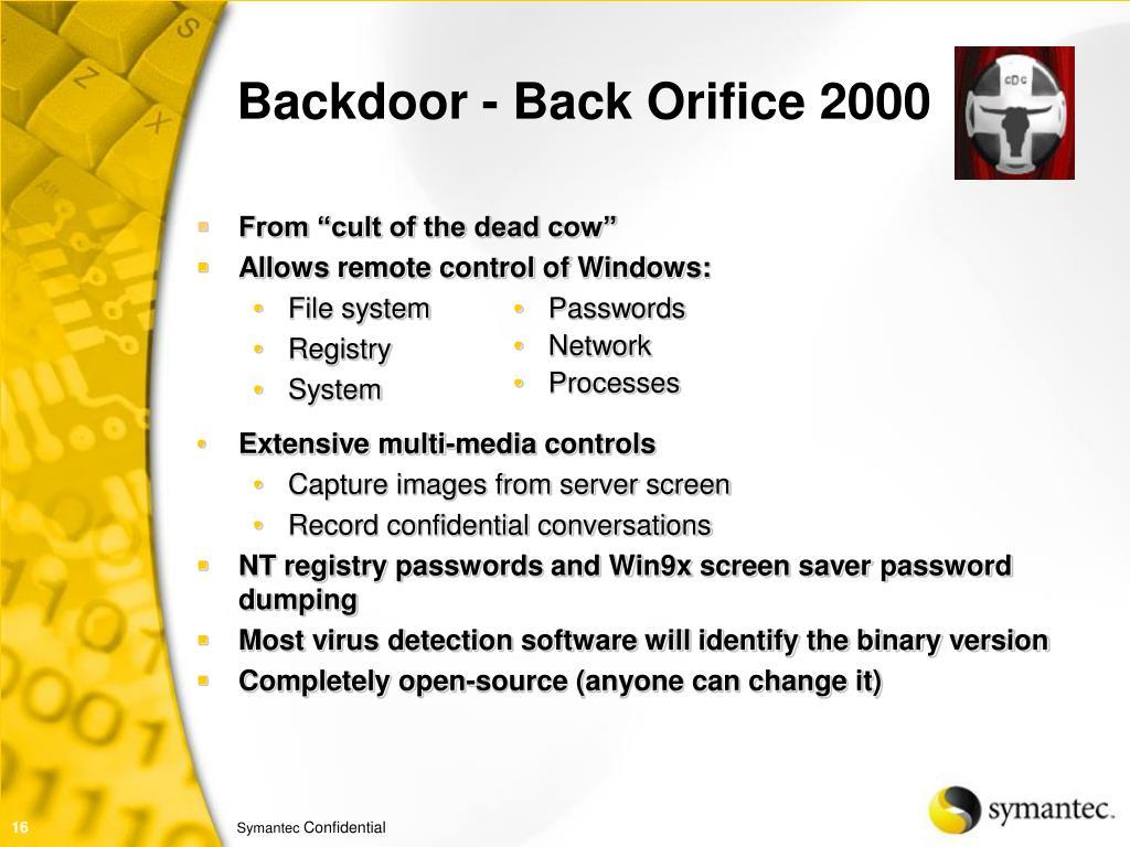 Backdoor - Back Orifice 2000