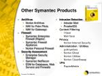 other symantec products