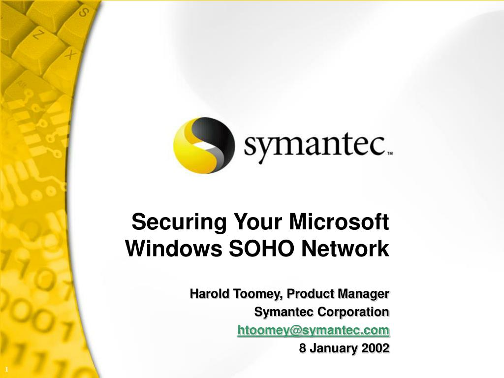 securing your microsoft windows soho network l.