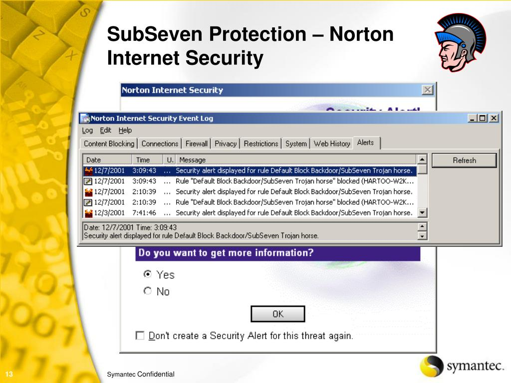 SubSeven Protection – Norton Internet Security