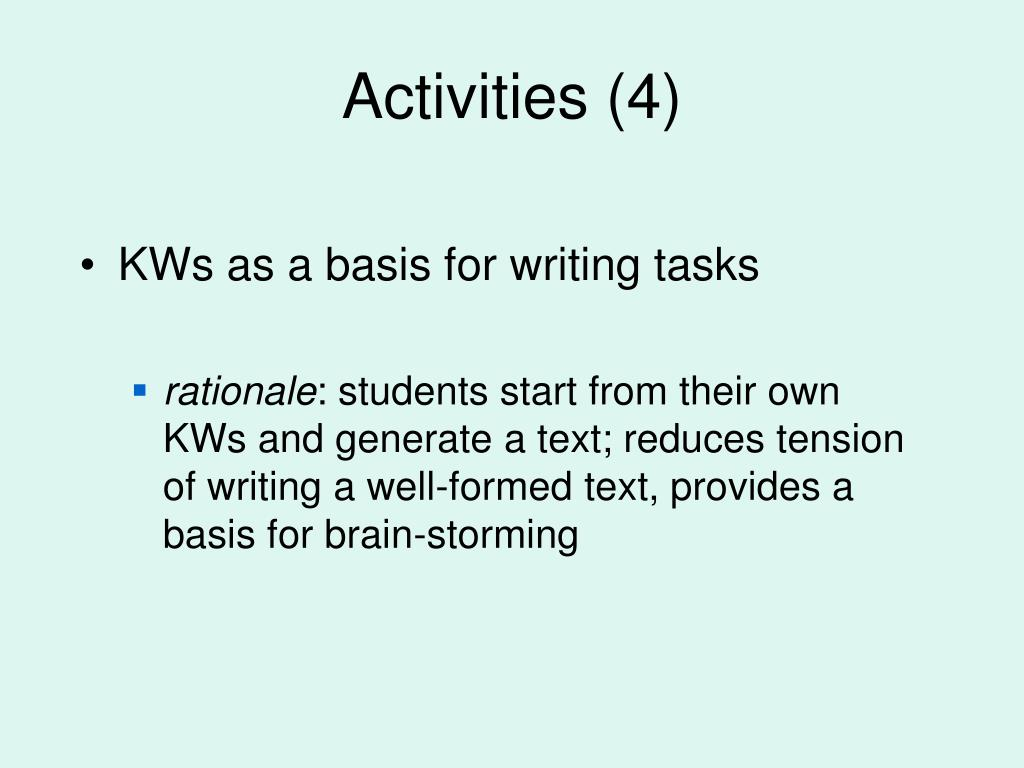 Activities (4)