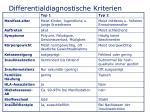 differentialdiagnostische kriterien