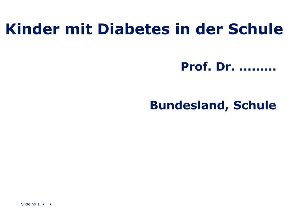 kinder mit diabetes in der schule l.