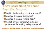 before asking msha for a mine inspection have you