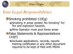 your legal responsibilities