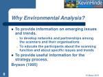 why environmental analysis