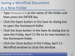 saving a wordpad document in a new folder53