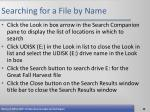 searching for a file by name68